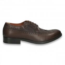 Pantofi eleganti pentru barbati, in stil Oxford, din piele, maro inchis - W715
