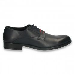 Pantofi smart-casual pentru barbati, din piele, bleumarin - W719