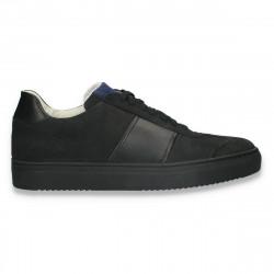 Pantofi casual pentru barbati, din piele intoarsa, negri - W723