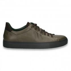 Pantofi casual pentru barbati, din piele, verzi - W724