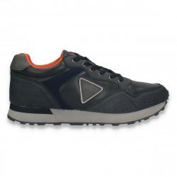 Sneakers casual pentru barbati, din piele ecologica, bleumarin - W749