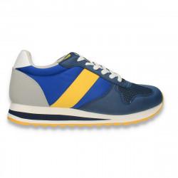 Sneakers pentru baieti, din material textil, bleumarin-albastru - W750