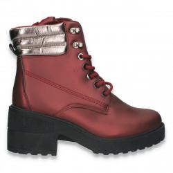 Ghete fashion pentru femei, cu aspect metalic, Bodeaux - W760