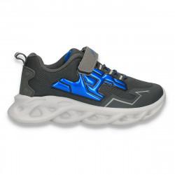 Pantofi sport pentru baieti, gri-albastru - W764