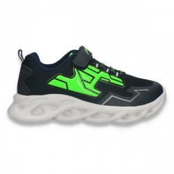 Pantofi sport pentru baieti, bleumarin-verde - W765