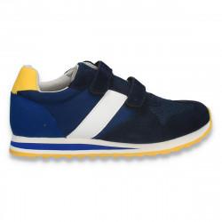 Sneakers pentru baieti, din material textil, bleumarin-albastru - W769