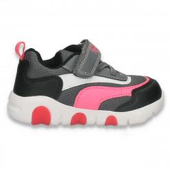 Pantofi sport pentru fetite, gri-roz - W770