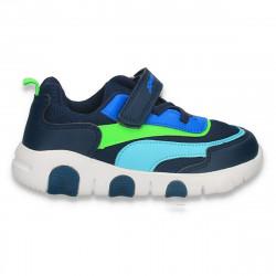 Pantofi sport pentru baieti, bleumarin-verde - W772