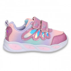 Pantofi sport, cu leduri, pentru fetite, roz - W776