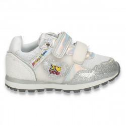 Pantofi sport, pentru fetite, argintii - W779