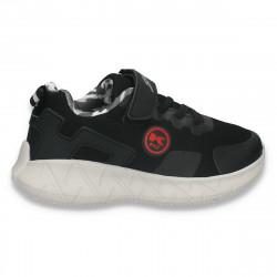 Pantofi sport pentru baieti, negri - W781