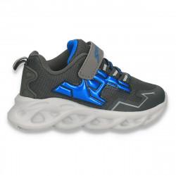 Pantofi sport pentru baieti, gri-albastru - W783