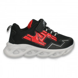 Pantofi sport pentru baieti, negru-rosu - W784