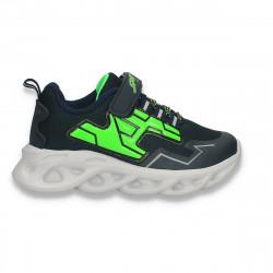 Pantofi sport pentru baieti, bleumarin-verde - W785