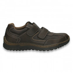 Pantofi casual pentru barbati, cu scai, maro - W788