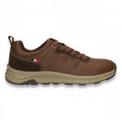Sneakers casual pentru barbati, din piele ecologica, maro - W796