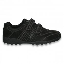 Pantofi sport-casual pentru barbati, cu scai, negri - W797