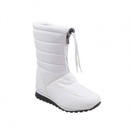 Cizme de zapada, albe, pentru femei