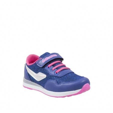 Pantofi Sport Fete Violet cu Siret roz