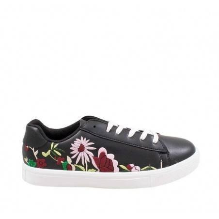 Pantofi casual, sneakers, femei, motiv floral