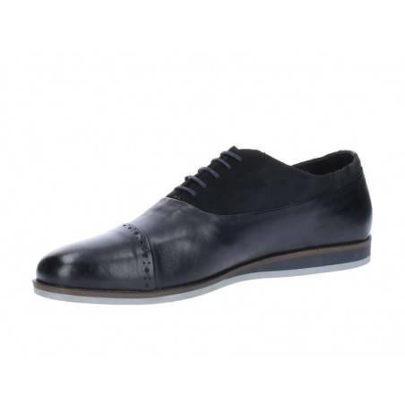 Pantofi Barbati Negri din Material combinat
