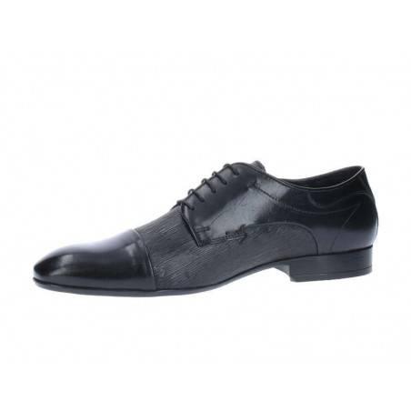Pantofi Barbati Negri cu Striatii pe piele