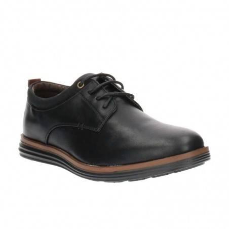 Pantofi Barbati Negri cu Talpa in doua culori