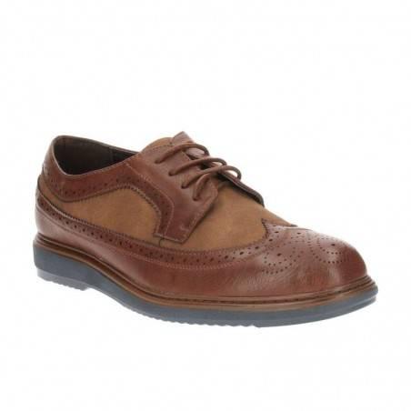Pantofi Barbati Maro din Material combinat cu perforatii