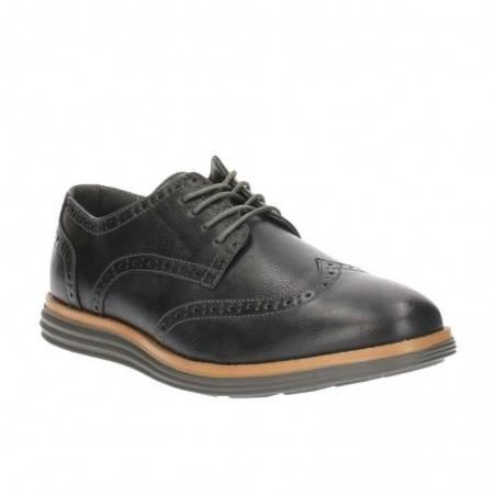 Pantofi Barbati Casual Gri Inchis cu Decor Perforat