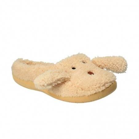 Papuci de casa Dama Bej