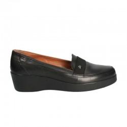 Pantofi comozi, piele, platforma medie