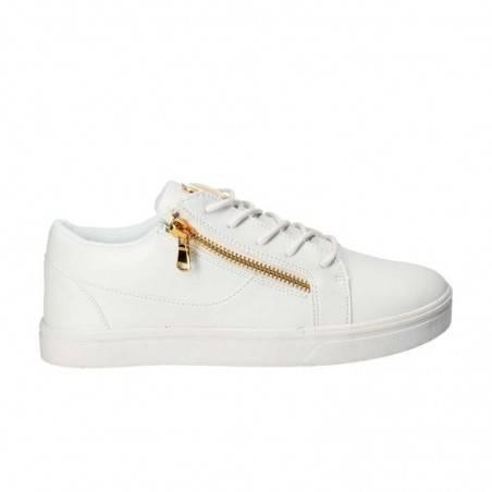 Pantofi barbati, casual albi, stil urban